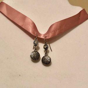 Lia Sophia round drop earrings